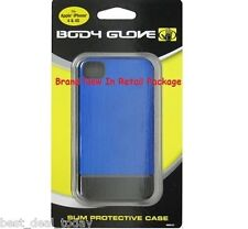 Body Glove Icon Slide-On Flat Back Case For Apple Iphone 4 4S 4G Blue 9251301