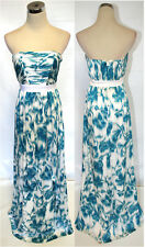 NWT Max and Cleo $228 Turquoise / White Evening Gown 2