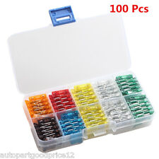 100 pcs Assorted Car Truck Mini Low Profile Fuse 5,7.5,10,15,20,25,30 Amp Sales