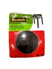 Scotch 3M 3-inch Brown Round Felt Pads, 4 pads/pack for furniture NEW in package