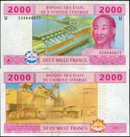 CENTRAL AFRICAN STATES CAMEROUN 2000 FRANCS 2002 P 208Ud UNC