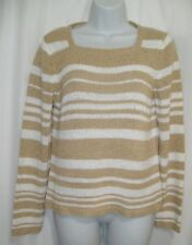 Rena Rowan Womens Pullover Beige Sweater Size: Small