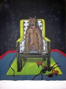 Marvin Israel -Thirsting Wolf: Galerie Brusberg, 1971 (HAND SIGNED) RARE EROTIC