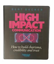 Bert Decker High Impact Communication 6 Audio Cassettes Box Set