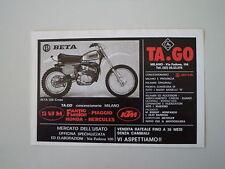 advertising Pubblicità 1977 MOTO BETA CR 250 CROSS