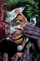 BATMAN THREE JOKERS #2 PREMIUM VARIANT F (APPLYING MAKEUP)  DC COMICS