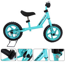 """Kids Balance Running 12"""" Bike Children Learning  Boy Girl Metal Bicycle Blue"""