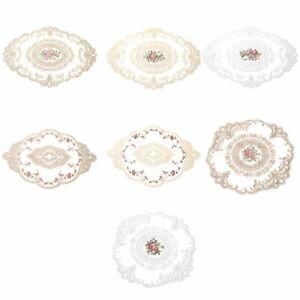 Decoration Table Mat Background Cloth Accessories Retro Furniture Lace Placemat