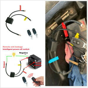 Motorcycle Wireless Battery Disconnect Switch System With Dual Remote Control