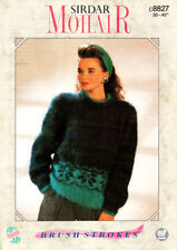 Retro Mohair Knitting Pattern, Sirdar, Ladys Sweater, 30-40in, 8827
