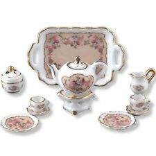 Reutter Porzellan Teeservice / Tee Set / Tea Set Classic Rose Puppenstube 1:12