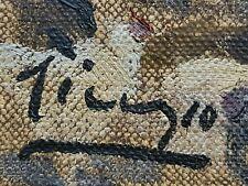 Pablo Picasso Original vintage art rare oil painting hand signed No print NR !!!