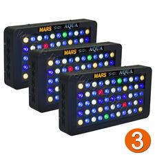 3PCS marsaqua 165 W Luz LED de Acuario para arrecife de coral Regulable Lámpara de espectro completo
