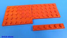 LEGO Nr-366621 / 1x6 Plaque rouge / 10-pc