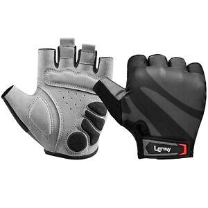 Lerway Anti Slip Cycling Gloves Half Finger Breathable Sports Gloves Men / Women