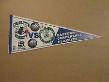 NBA Hornets vs Celtics Vintage 1993 Playoffs Pennant