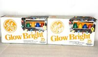 GE GLOW BRIGHT .. Vintage 25' Outdoor C9 Christmas Light Set of 25 .. NEW in BOX