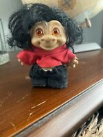 "Vintage 1960s 3"" Rooted Hair Rootie Troll Doll: Thomas Dam, Scandia House Era"