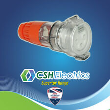 IP66 3 Pin 32 Amp Single Phase Female Plug Industrial Weatherproof Socket