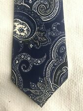 polo ralph lauren classic paisley silk tie in blue and cream