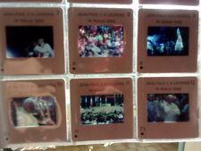 PAPE jean-Paul II à Lourdes  1983 Série diapos comme  NEUF