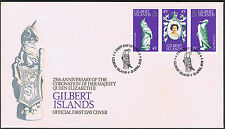 Gilbert Islands 25th Anniversary Coronation 1978 First Day Cover Stamps
