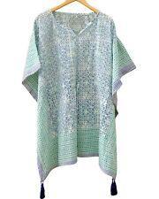 Indian Cotton Caftan Short Kaftan Hippie Dress Beach Wear Poncho Short Maxi INW2