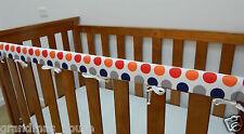 Baby Cot Rail Cover Crib Teething Pad - Big Boy Coloured Dots  ****REDUCED****