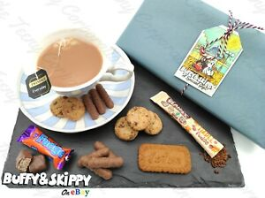 Personalised Afternoon Tea Gift Set Hamper Box Birthday Christmas Coffee Gifts