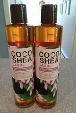 2 Bath & Body Works COCO SHEA - WHITE TEA Oil To Foam Body Cleanser Super Soothe