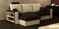 Cheap Corner Sofa Bed. Sofa has two storage compartments.