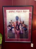 April Fools Day - Original One Sheet Cinema / Theatre / Video Poster - Framed