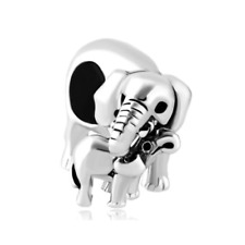 CharmSstory Elephant Charms Style Mom Love Baby Child Beads Charm For Bracelets