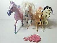 Fashion Star Fillies She-Ra Vintage 1980's Lot of 4 Horses and Brush Hair Cut