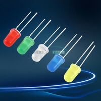 300PCS 3mm 3V 20mA Round White/Yellow/Red/Blue/Green LED Light Assortment Diodes