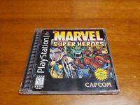 Marvel Super Heroes (Sony Playstation 1) PS1 Complete with Registration Card