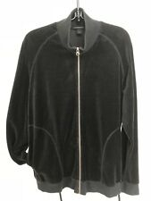 Express black fleece zip jacket women's L oversized large pockets gently used