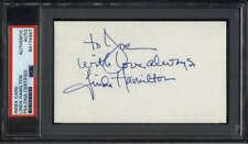 Linda Hamilton Actress Terminator Signed Index Card PSA/DNA