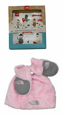 The North Face Baby Girls Mittens & Winter Hat Gift Boxed Set XS/6M-24M NIB Pink