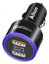 Quick Charge 3.0 Adapter,Fast Car Charger, Dual USB Port 35W,for Smartphont,iPho
