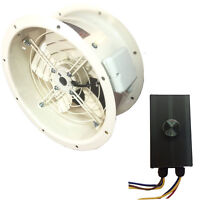 Industrial Duct Fan Cased Axial Fan Commercial Extractor + Fan Speed Controller