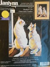 Counted Cross Stitch Kit Janlynn Shadow Cats New