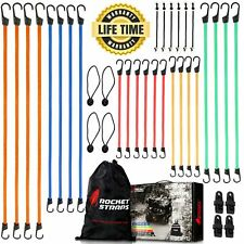 Rocket Straps 36pc Assortment Of Heavy Duty Bungee Cords