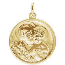 St. Joseph Medal In 14K Yellow Gold