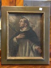 Antico dipinto ad olio '700 San Pietro da Verona-antiquandogenova-