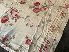 Waverly ~Harbor House~ Floral QN Flat Sheet Golds~Reds