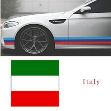 """79""""/2M BMW Exterior Cosmetic Hood Roof Bumper Italy Flag Stripe Car Stickers"""