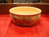 "Salt Glazed Deep Dish Stoneware Salad Serving Bowl / 11.25"" x 4.25"""