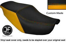BLACK & YELLOW VINYL CUSTOM FITS HONDA CBR 1000 F 87-88 DUAL SEAT COVER ONLY
