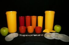 Tupperware AUTUMN 50oz Handolier Go Cup Pitchers ~12oz Tumblers ~3 Snack Cups +